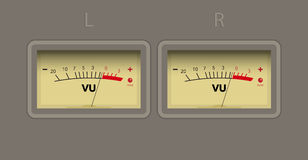 Volume unit meter Royalty Free Stock Photography