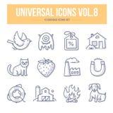 Volume universale delle icone di scarabocchio 8 Fotografia Stock