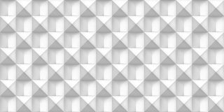 Volume white realistic texture, cubes, gray 3d geometric seamless pattern, design vector light background Stock Photo
