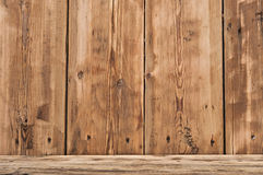 Volume wooden shelf Royalty Free Stock Image