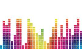 Volumen colorido de la música Fotografía de archivo libre de regalías