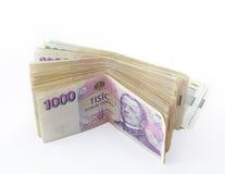 Volumen de billetes de banco checos fotos de archivo libres de regalías