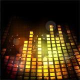 Volumen musicaux dans la couleur d'or brillante Photo libre de droits