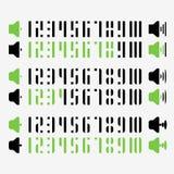 Volumen número negro verde 1 a ejemplo 10 Imagen de archivo