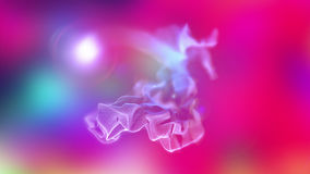 Volumes of abstract smoke, 3d illustration. 3d illustration on the abstract theme of beautiful particles Royalty Free Stock Photography