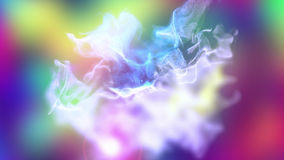 Volumes of abstract smoke, 3d illustration. 3d illustration on the abstract theme of beautiful particles Stock Photography