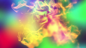 Volumes of abstract smoke, 3d illustration. 3d illustration on the abstract theme of beautiful particles Royalty Free Stock Images
