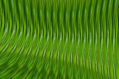 Volumetric background green shiny wave bend ribbed vertical lines Stock Images