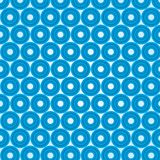 Volumetric blue circles on a white background Stock Image