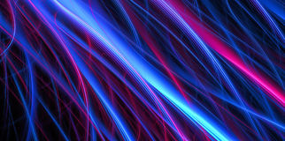 Volumetric blue and red stripes Stock Photography