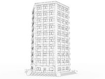 Volumetric the building drawing №1 Stock Photography
