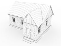 Volumetric the building drawing #1 Royalty Free Stock Photography