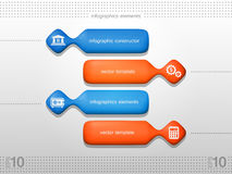 Volumetric elements of infographics. stock image