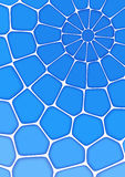 Volumetric geometrical blue background with outline extrude effect.  Abstract 3d vector background Stock Images