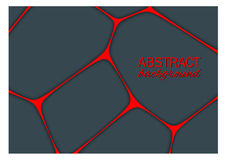 Volumetric geometrical dark background with outline extrude effect.  Abstract 3d vector background.  Stock Images
