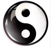 Volumetric image of feng shui. Yin Yang. Vector Royalty Free Stock Image