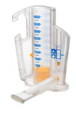 Volumetric Incentive Spirometer. A Volumetric Incentive Spirometer used to measure air capacity of lungs stock images