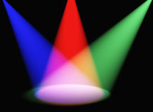 Volumetric light color Stock Photo
