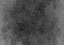 Dark abstract gradient background of triangles. Volumetric polygonal black pattern. Vector luxury abstract grey background. Dark horizontal modern dynamic fond vector illustration