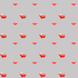 Volumetric red hearts. Of various sizes on the background Stock Photography