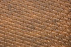 Volumetric wavy patterns on a wooden wall stock illustration