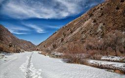 Volumetrisch landschap van bergen. stock foto