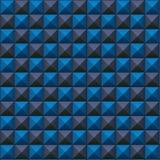 Volumetrische Beschaffenheit der blauen und grauen Würfel Stockfoto
