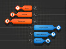 Volumetrische Elemente von infographics lizenzfreie abbildung
