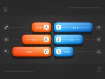 Volumetrische Elemente von infographics stock abbildung
