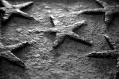 Volumetrische fünf-spitze Sterne Stockfotografie