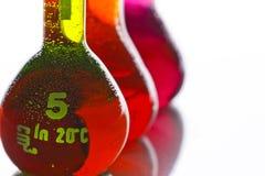 Volumetrische flessen Stock Afbeelding