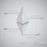 Volumetrische hängende Pyramide mit Zeigern Lizenzfreies Stockbild