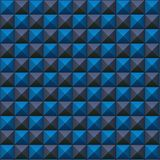 Volumetrische textuur van blauwe en grijze kubussen Stock Foto