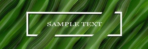 Volumetrischer, Vektor-, Grün3d Hintergrund mit Text und Blätter im Stil des Realismus Entwerfer Evgeniy Kotelevskiy stock abbildung