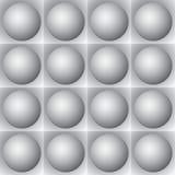 Volumetrisches Muster - graue Kugeln und Quadrate Lizenzfreies Stockbild