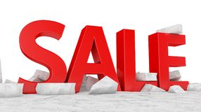 SALE on broken ice Royalty Free Stock Photo