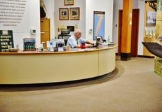 Voluntario nacional del centro del visitante de la reserva de Virginia Imagen de archivo libre de regalías