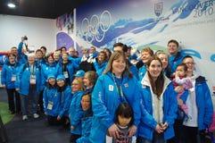 2010 voluntarios olímpicos de los juegos olímpicos del invierno Imagenes de archivo