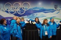 2010 voluntarios olímpicos de los juegos olímpicos del invierno Fotografía de archivo libre de regalías