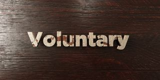Voluntary - grungy wooden headline on Maple  - 3D rendered royalty free stock image. This image can be used for an online website banner ad or a print postcard Royalty Free Stock Images