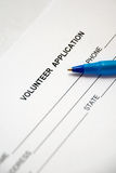 Volunteer Application Stock Image