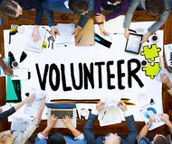 Volunteer Charity Help Sharing Giving Donate Assisting Concept Royalty Free Stock Image