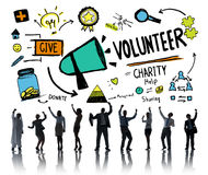 Volunteer Charity and Relief Work Donation Help Concept Royalty Free Stock Photo