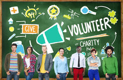 Volunteer Charity and Relief Work Donation Help Concept Stock Photography