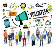 Volunteer Charity Relief Work Donation Help Concept Royalty Free Stock Photography