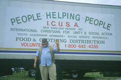 Volunteer collecting donations Stock Images