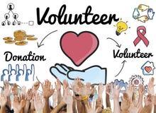 Volunteer Donation Welfare Helping Hand Concept. Volunteer Donation Welfare Helping Hand royalty free stock photos