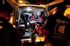 Volunteer EMTs royalty free stock photo