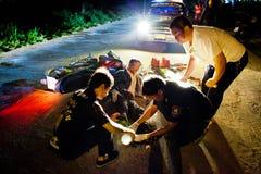 Volunteer EMTs stock photo
