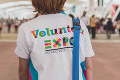 Volunteer at Expo 2105 in Milan, Italy Royalty Free Stock Photo